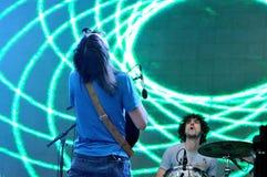 Прирученная импала, психоделический проект рок-группы Кевина Parker, выполняет на звуке Heineken Primavera Стоковые Фото