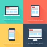 Приспособительный веб-дизайн Стоковые Изображения RF