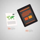 Приспособительный и отзывчивый комплект значка веб-дизайна Стоковая Фотография