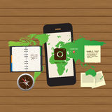 Приспособительный и отзывчивый комплект значка веб-дизайна Стоковая Фотография RF