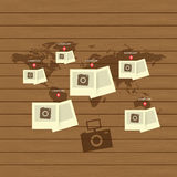 Приспособительный и отзывчивый комплект значка веб-дизайна Стоковые Изображения RF