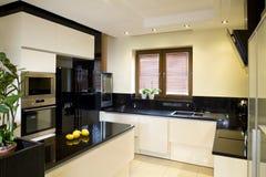 приспособленная кухня самомоднейшая Стоковые Фотографии RF