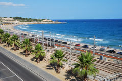 приставает среднеземноморское к берегу Стоковое фото RF