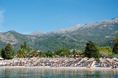 приставает montenegro к берегу Budva Стоковая Фотография RF
