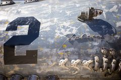 Приставанный к берегу фестиваль Австралия цацы скульптуры гонщика Стоковая Фотография RF