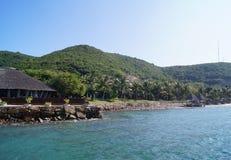 Пристани на острове Стоковое фото RF