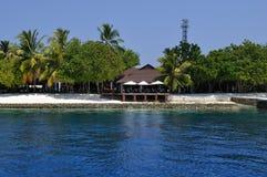 Пристани острова Мальдивов Стоковая Фотография