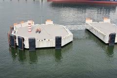 Пристани посадки в порте Klaipeda, Литвы стоковое фото rf