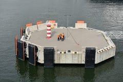Пристани посадки в порте Klaipeda, Литвы стоковые фотографии rf