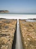пристаньте воду к берегу канала Стоковое фото RF