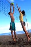 пристаньте волейбол к берегу Стоковая Фотография RF