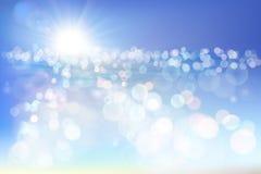 пристаньте восход солнца к берегу также вектор иллюстрации притяжки corel Стоковая Фотография