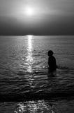 пристаньте восход солнца к берегу Стоковая Фотография RF