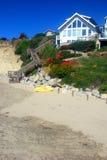 пристаньте дом к берегу california стоковые фото