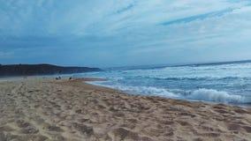 пристаньте девушку к берегу дня меньшяя смотря вода стоковая фотография rf