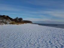 пристаньте зиму к берегу Стоковое Фото