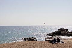 пристаньте канереечное playa к берегу Испанию пикника острова de fuerteventura cofete Стоковое фото RF