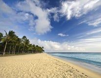 пристаньте красивейшее тропическое к берегу Стоковые Изображения