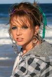 пристаньте красивейшую девушку к берегу Стоковое Изображение RF