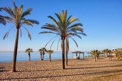 Пристаньте к берегу в Марбелье на Косте del Sol в Испании стоковые фото