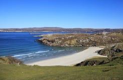 Пристаньте к берегу в районе Sangomore, Durness, Шотландии стоковое фото rf