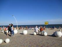 Пристаньте к берегу на береге моря Чёрного моря, Украины Стоковые Фотографии RF