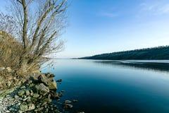 Пристаньте к берегу на береге острова Khortytsya Стоковое Изображение RF