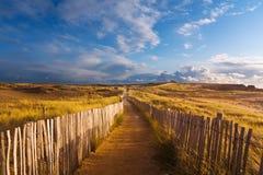 пристаньте к берегу около путя Стоковая Фотография RF