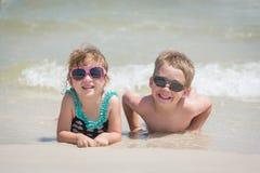 Пристаньте малышей к берегу Стоковое фото RF