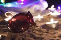 пристаньте ночу к берегу Стоковые Изображения RF