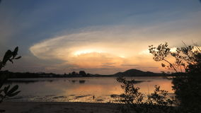 пристаньте ночу к берегу Стоковое Фото