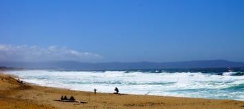пристаньте океан к берегу Стоковое Изображение