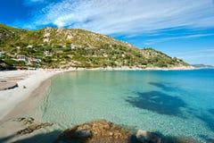 пристаньте остров к берегу Италию fetovaia elba Стоковые Изображения