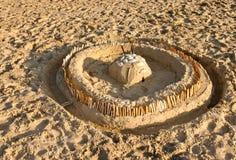 пристаньте песок к берегу замока Стоковая Фотография RF