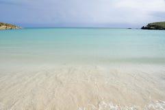 пристаньте плащу-накидк к берегу около sucia rojo Пуерто Рико Стоковое Фото