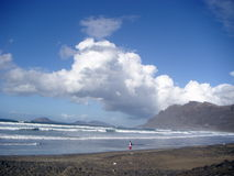 пристаньте пышный океан к берегу Стоковые Изображения RF