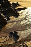 Пристаньте утесы к берегу берега и зашкурьте картины в Baja, Мексике Стоковое Фото