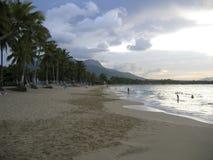 пристаньте caribbean к берегу Стоковая Фотография