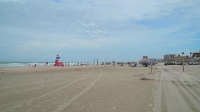 пристаньте daytona к берегу florida сток-видео