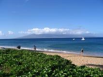 пристаньте kaanapali к берегу Стоковое Фото