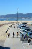 пристаньте monica к берегу santa Стоковое Изображение RF