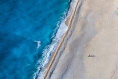пристаньте myrtos к берегу Стоковая Фотография RF