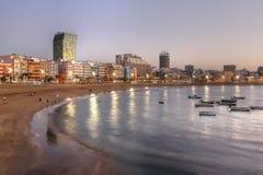 пристаньте palmas к берегу Испанию las canaria canteras de gran Стоковое Изображение