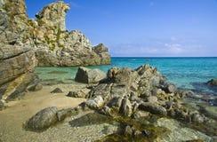 Пристаньте paradiso к берегу del подводную лодку Zambrone (Vibo Valentia) Калабрию Италию Стоковая Фотография RF