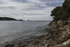 пристаньте tuerredda к берегу Стоковое Изображение RF