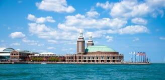 пристань военно-морского флота chicago стоковые изображения