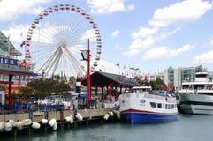 Пристань военно-морского флота Чикаго Стоковое Изображение