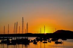 Пристань восхода солнца Стоковая Фотография RF