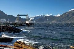 Пристань в бухте Porteau Стоковое фото RF