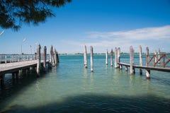 Пристань в Венеция, Италии Стоковые Фотографии RF